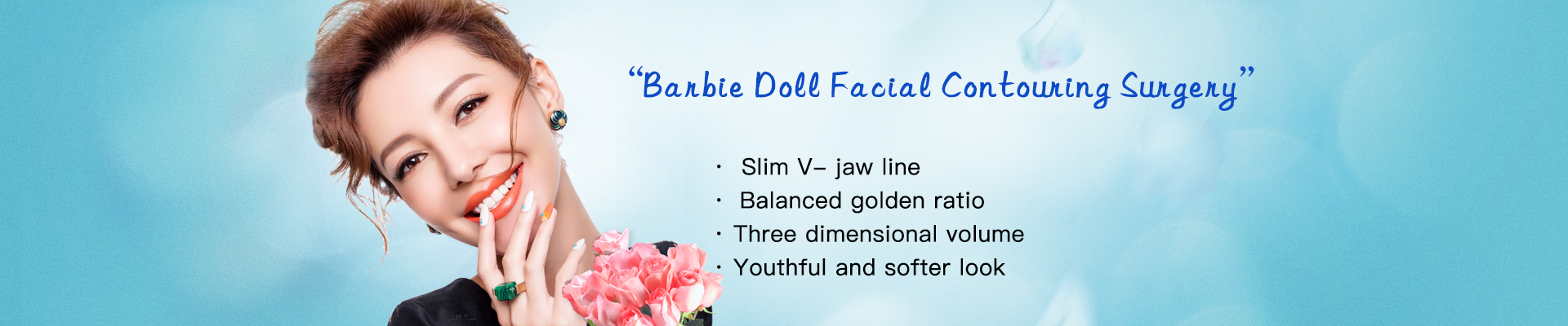 Barbie doll facial contouring
